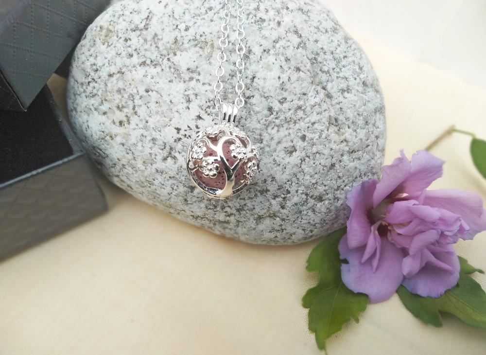 Aroma šperk strom života postriebrený dekor