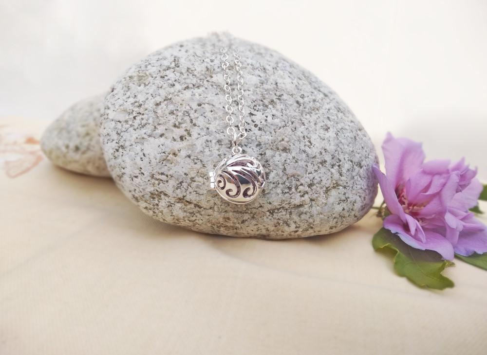Aroma šperk postriebrený vlny dekor