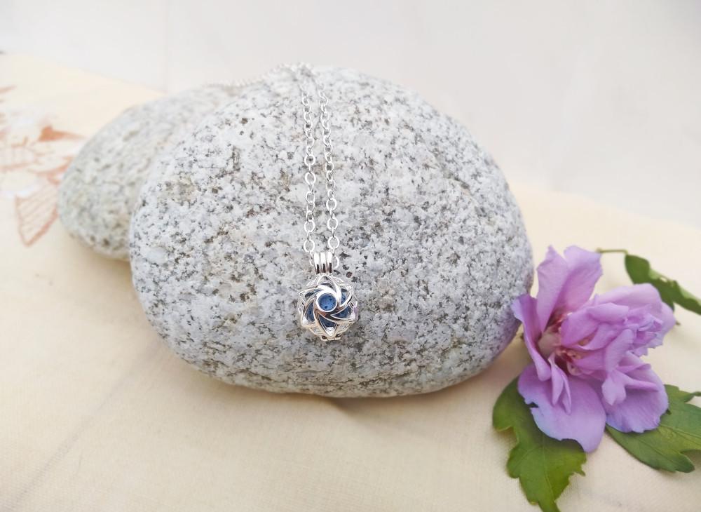 Aroma šperk morská panna postriebrený dekor