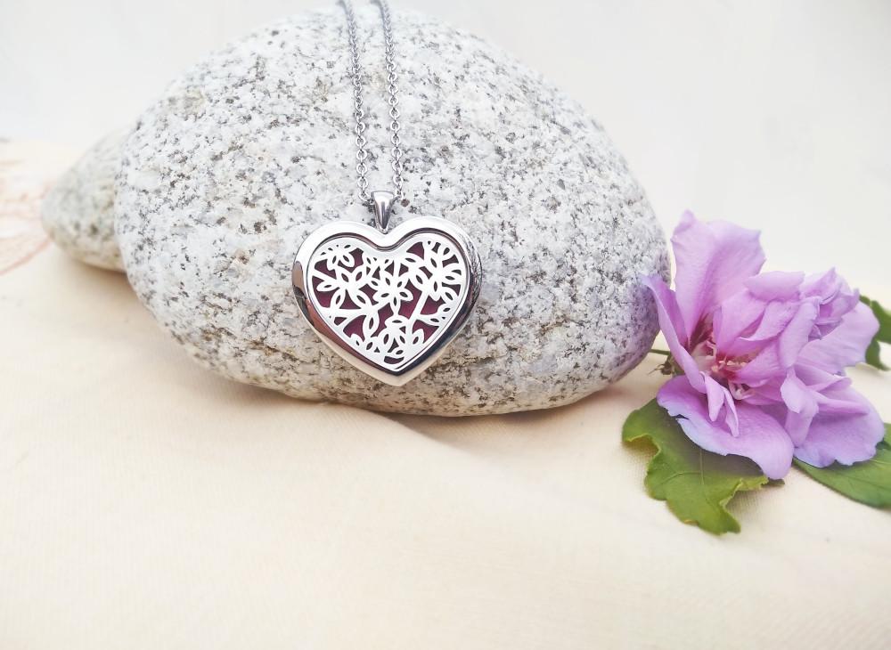 Aroma šperk srdce kvety dekor