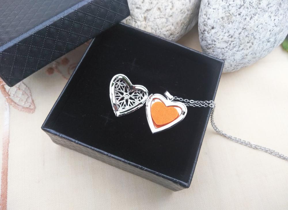 Aroma šperk srdce lásky kvet otvorený