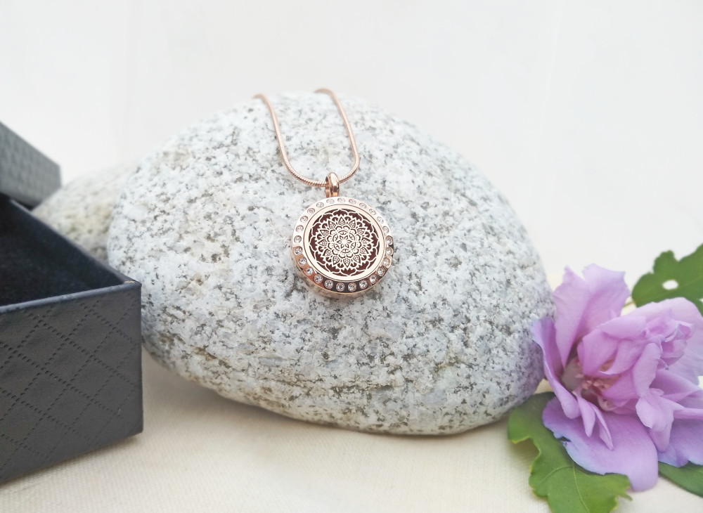 aroma šperk mandala zlatá dekor