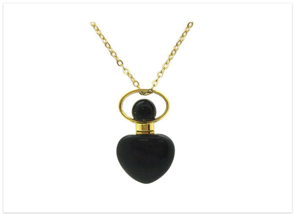 Aromatický prívesok obsidián s retiazkou