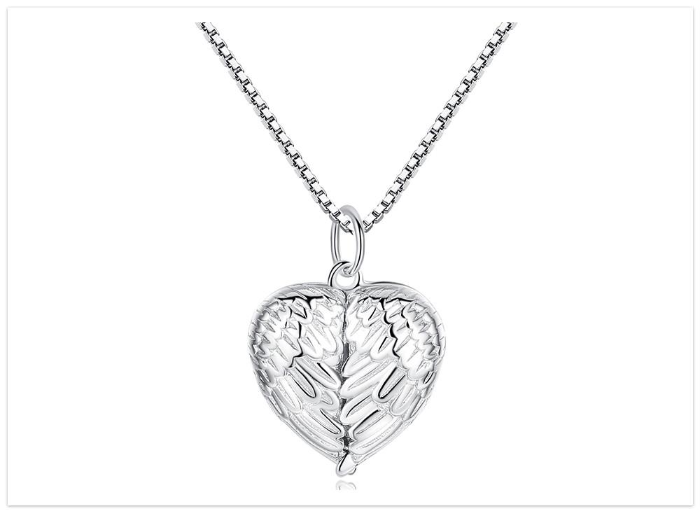 Aromatický prívesok srdce s krídlami čisté