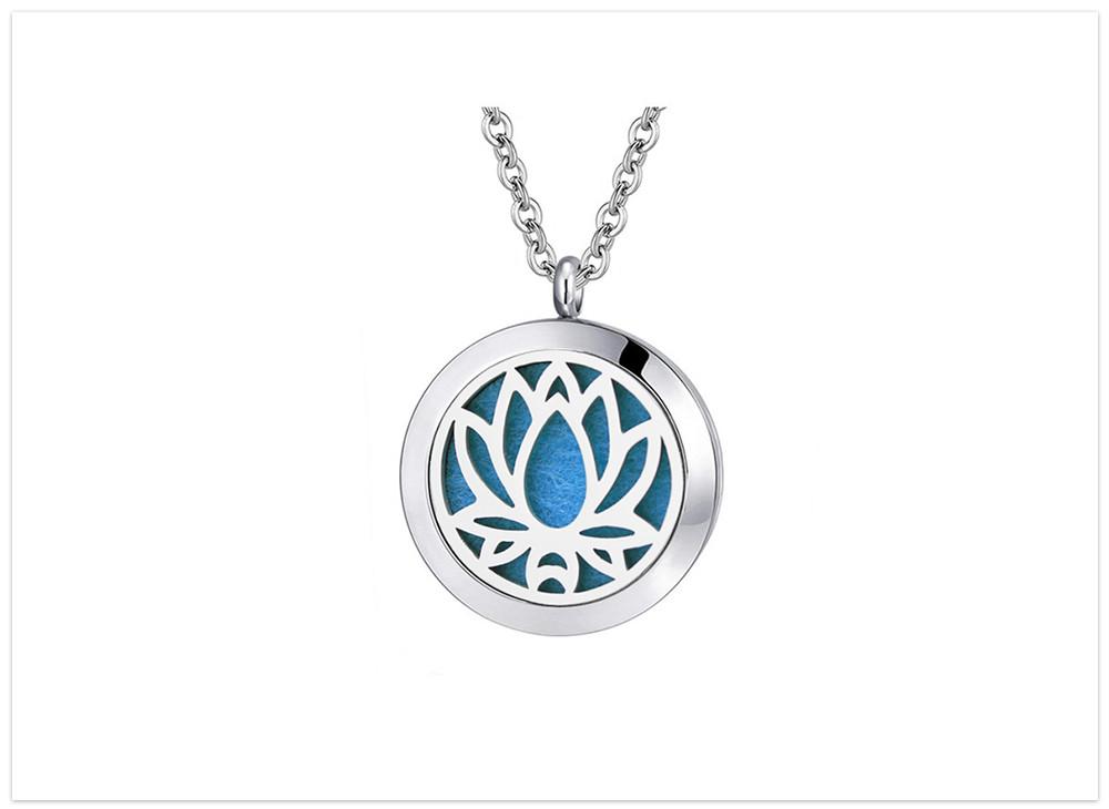 Aromatický prívesok lotosový kvet nerezová ocel