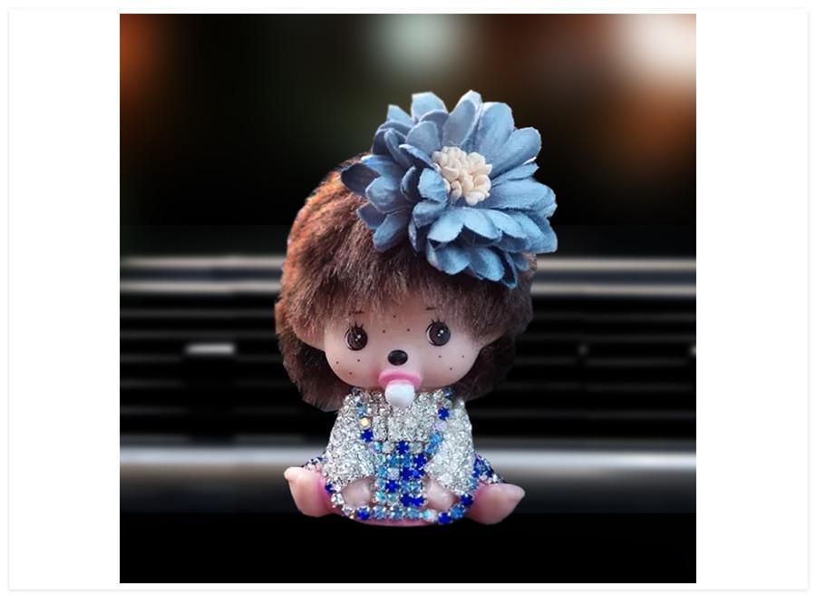 Aroma difuzer do auta bábika bledo modrá
