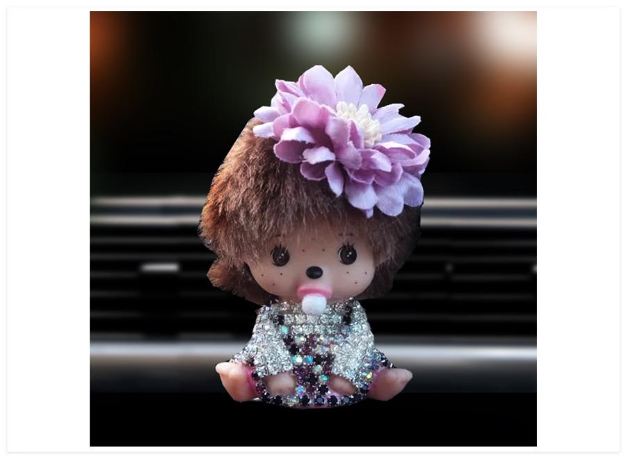 Aroma difuzer do auta bábika fialová