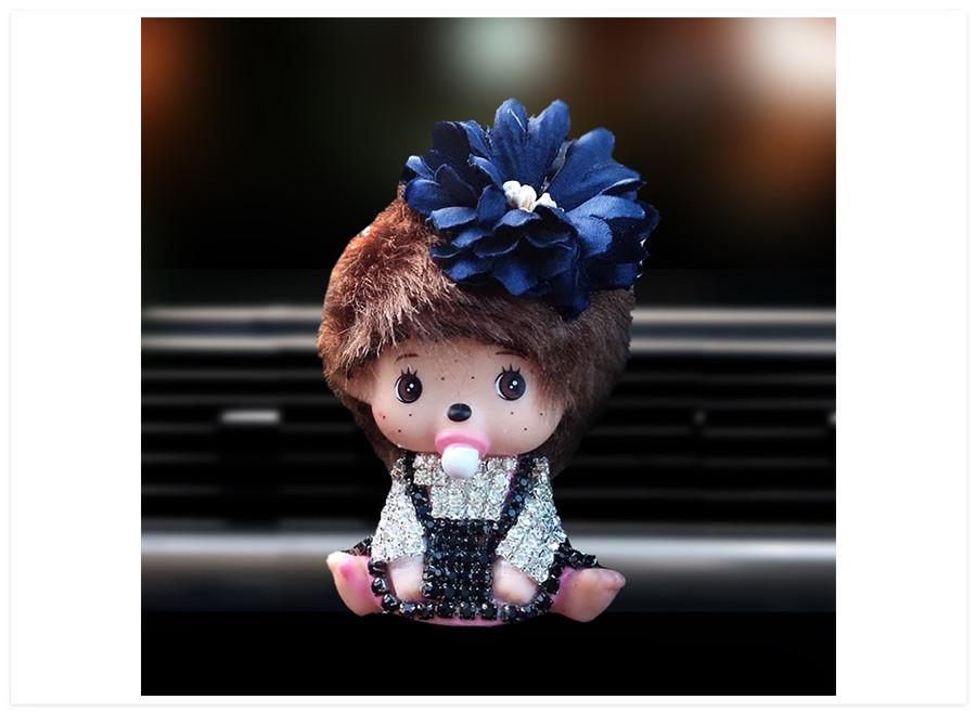 Aroma difuzer do auta bábika tmavo modrá