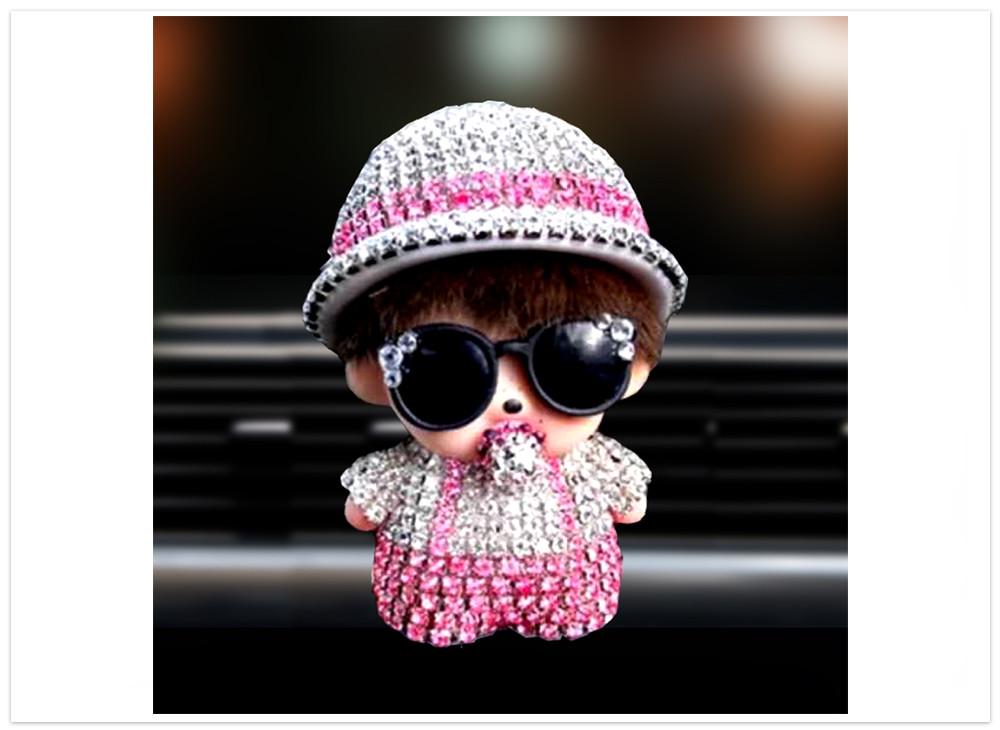 Difuzér do auta Bábika s klobúkom bielo ružová