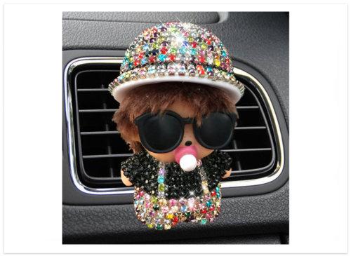 Difuzér do auta Bábika s klobúkom farebná