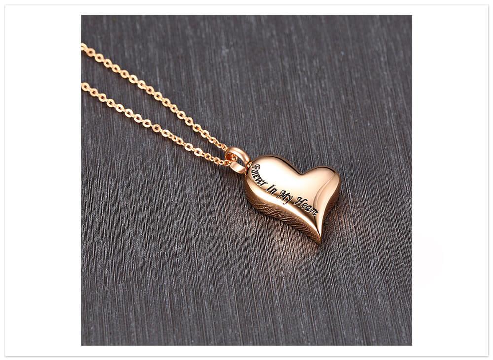 Aromatický prívesok srdce navždy ružové zlato